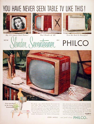 1957 Philco Seventeener TV #006739