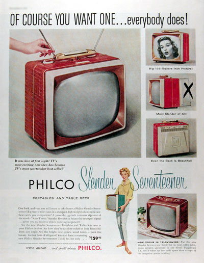 1957 Philco Portable TV #014817