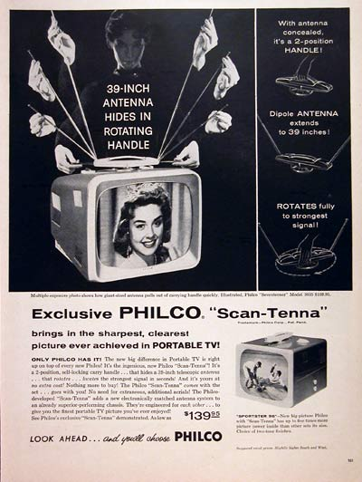1957 Philco Portable TV #006851