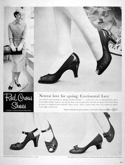 1957 Red Cross Shoes #007208