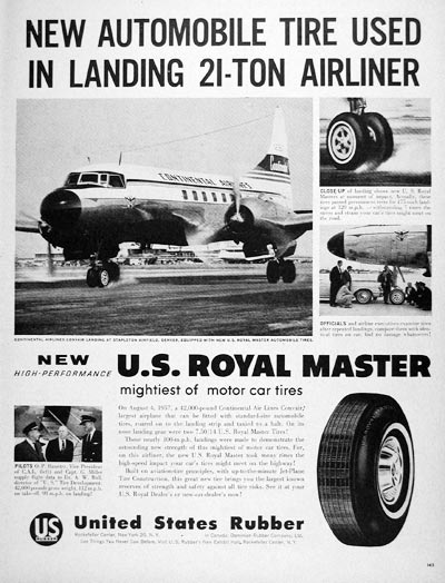 1957 U.S. Royal Tires #007095