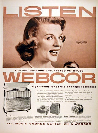 1957 Webcor Phonograph #007081