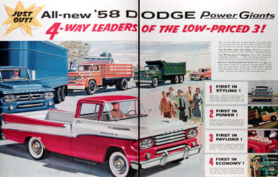 1958 Dodge Power Giant Trucks #014816