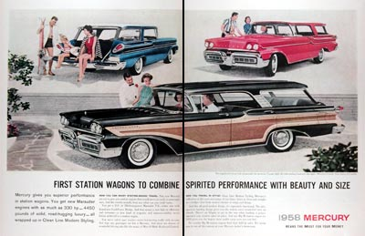 1958 Mercury Station Wagon Line #024811
