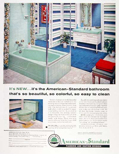Vintage Bathroom Advertisement