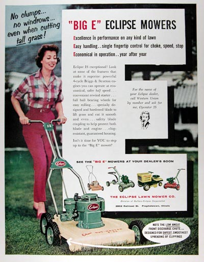 1959 Eclipse Lawn Mowers #009425