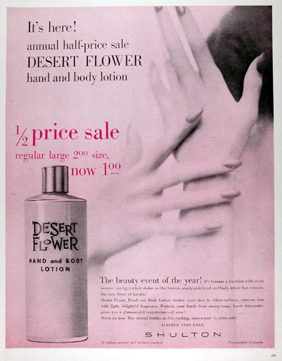 1960 Desert Flower Hand & Body Lotion #011367
