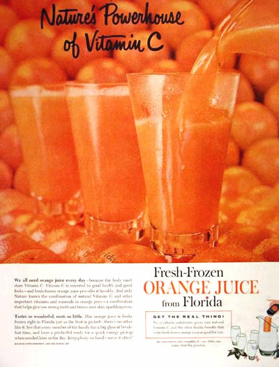 1960 Florida Orange Juice #004328
