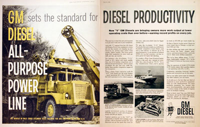 1960 GM Diesel Engines #004338