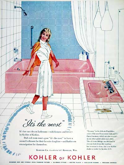 Vintage Bathroom 1960