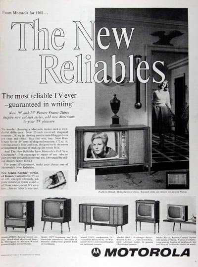 1960 Motorola TV Sets #011321