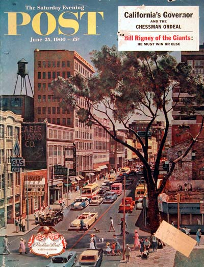 1960 Post Cover - Peachtree Street #004325