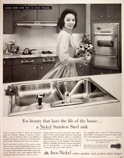 1960 Inco Stainless Steel Sinks #004306