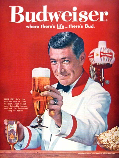 1961 Budweiser Beer #002424