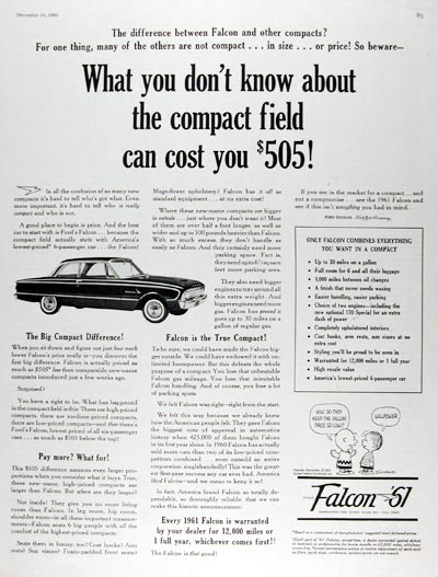 1961 Ford Falcon Coupe #010212