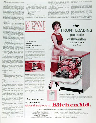 1961 KitchenAid Dishwasher #017980