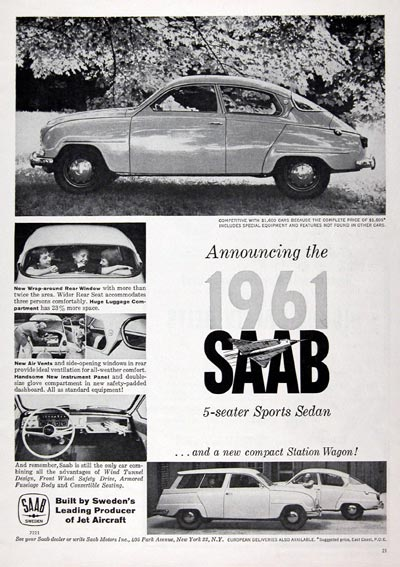 1961 SAAB Sport Sedan & Wagon #023776