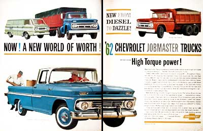 Chevrolet on 1962 Chevrolet Job Master Trucks Original Vintage Advertisement