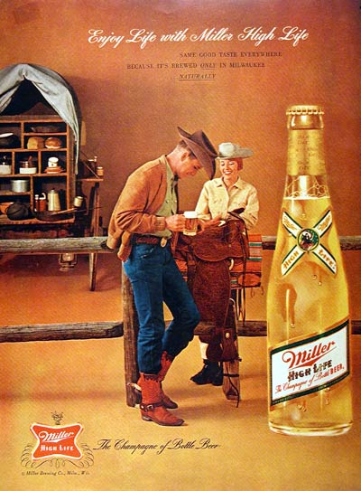 1962 Miller High Life Beer Classic Vintage Print Ad