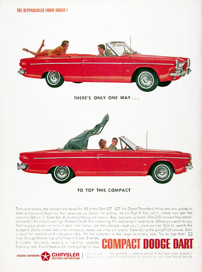 1963 Dodge Dart GT Convertible #023758