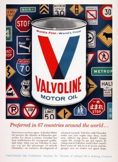 Valvoline Oil Price >> 1964 Valvoline Motor Oil Classic Vintage Print Ad