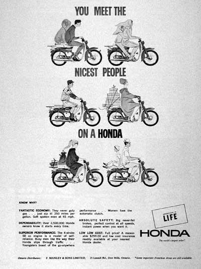 1965 Honda Motor Scooter. 1965 Honda Scooter #002125