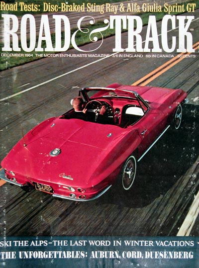 1965 Chevrolet Corvette Road & Track Mag Cover #004605
