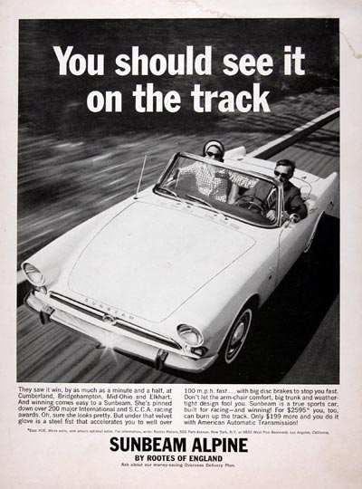 1964 Sunbeam Alpine Convertible #023427
