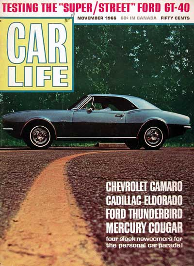 1966 Car Life Magazine Cover - 1967 Chevrolet Camaro #023336