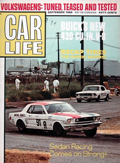 1966 Car Life Cover ~ Sedan Racing #023412