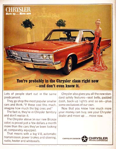 1966 Chrysler Newport Coupe Classic Vintage Print Ad