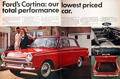Ford on 1966 Ford Cortina Gt Coupe Classic Vintage Print Ad
