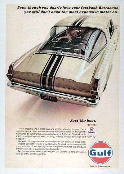 1966 Gulf Motor Oil Classic Vintage Print Ad