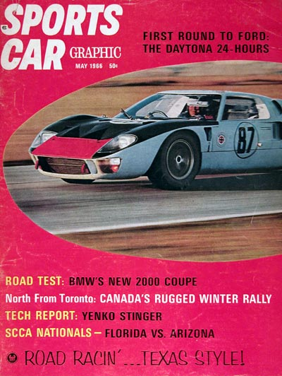 1966 Sports Car Graphic Cover - Ford GT40 #023318