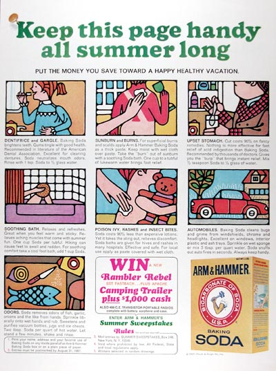 1967 Arm & Hammer Baking Soda #025132