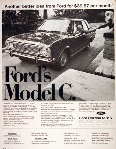 1967 Ford Cortina Model C #004243