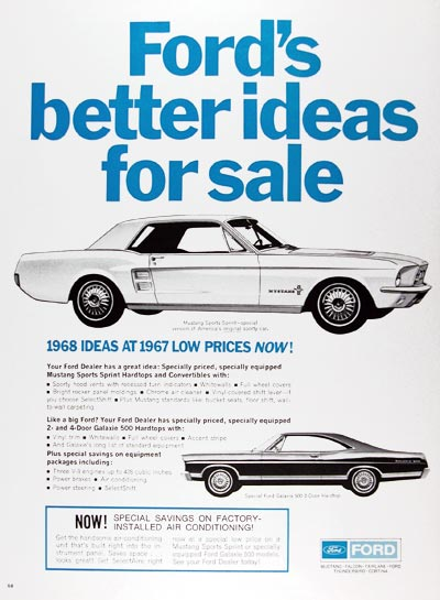 1967 Ford Mustang & Galaxie Sale #025153