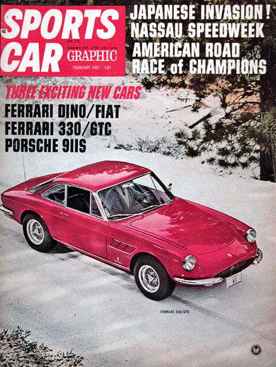 1967 Sports Car Graphic ~ Ferrari 330 GTC #023746