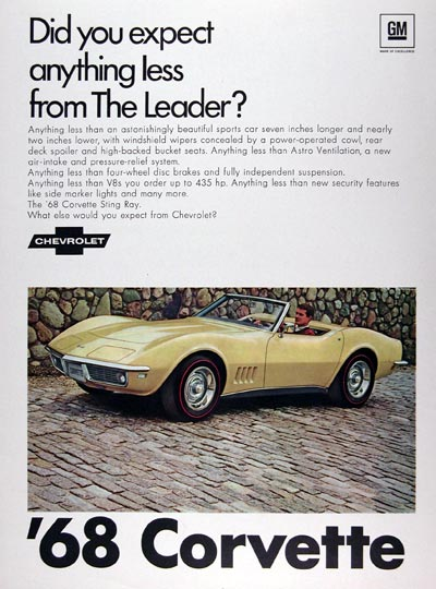 1968 Chevrolet Corvette Sting Ray Convertible #024110