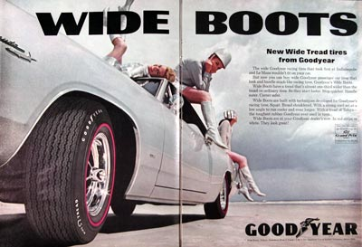 1968 Goodyear Wideboots Tires #024096