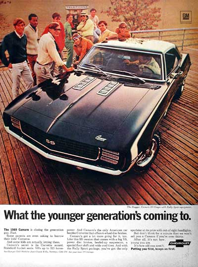 1969 Chevrolet Camaro Ss Coupe Classic Vintage Print Ad