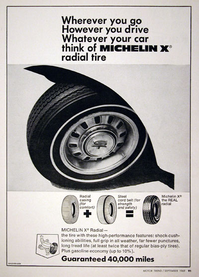 1969 Michelin X Tires #023212