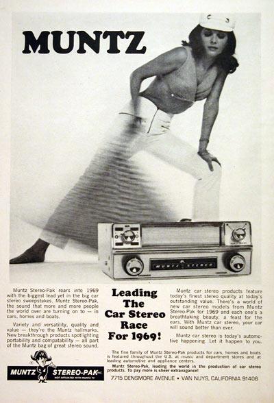 1969 Muntz Car Stereo Vintage Ad
