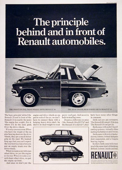 1969 Renault 10 - 16 Sedan Wagon #004830