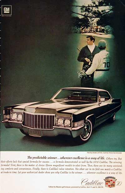 1970 Cadillac Sedan Deville Classic Vintage Print Ad