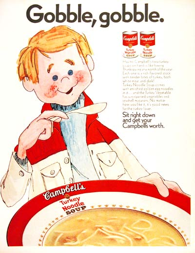 1970 Campbell's Turkey Noodle #003565