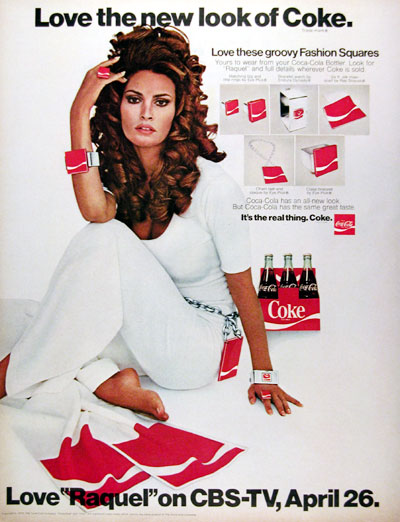 1970 Coca Cola New Look Raquel Welch #013076