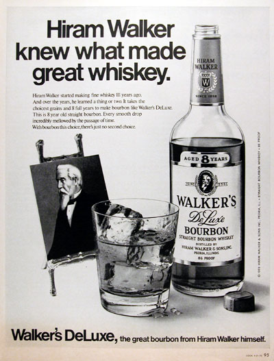 1970 Walker's Bourbon Whiskey #013095