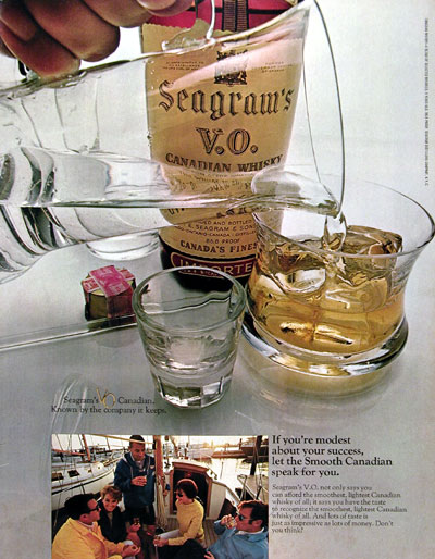 1970 Seagram's V.O. Whiskey #013097