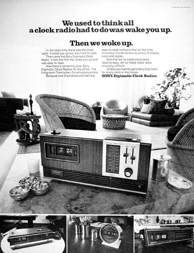 1971 Sony Clock Radio #004023
